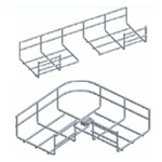Co ngang máng lưới 90°-100/150mm CVL - Horizonal bend 90-100/150mm for wire mesh tray, cable basket tray