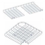 Co ngang máng lưới 90°-600mm CVL - Horizonal bend 600mm for wire mesh tray, cable basket tray