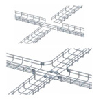 Co 4 ngã máng lưới CVL - Cross joint for wire mesh tray, cable basket tray