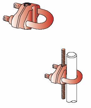 Kẹp U cáp & cọc tiếp đất CVL dùng cho hệ thống nối đất, Ground rod to cable clamp