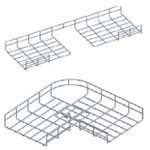 Co ngang máng lưới 90°-300mm CVL - Horizonal bend for wire mesh tray, cable basket tray
